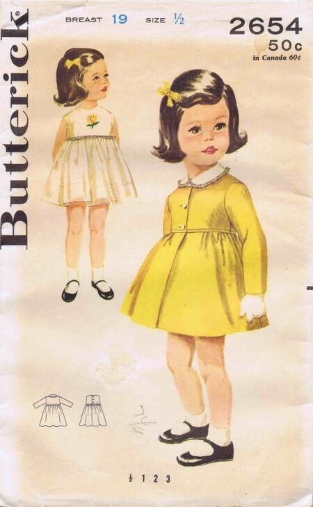 Butterick 1963 2654