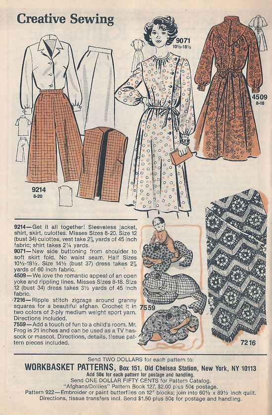 WB Mail Order Patterns 1982 Sept