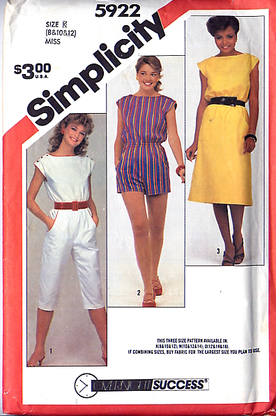 Simplicity 5922 A | Vintage Sewing Patterns | FANDOM powered by Wikia