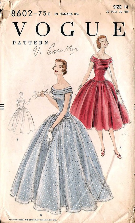 Vogue 8602 Vintage Sewing Patterns Fandom Powered By Wikia