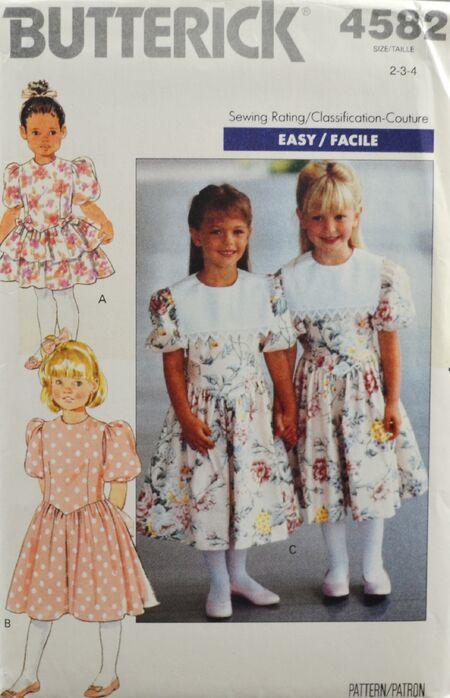 Butterick 4582 Girl's Dress 1