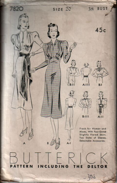 Butterick 7820 front