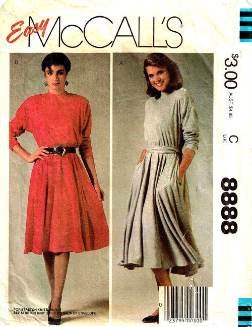 C1984 8888 McCalls Dress