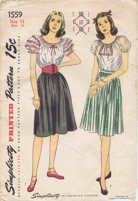 Simplicity 1945 1559 F Size 13