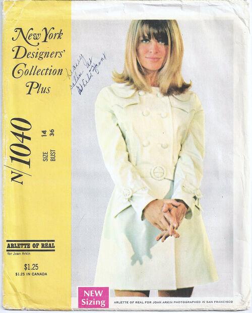1968 Joan Arkin Trench Coat cropped
