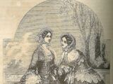 Godey's Lady's Book: Scarf Mantelet, April 1855