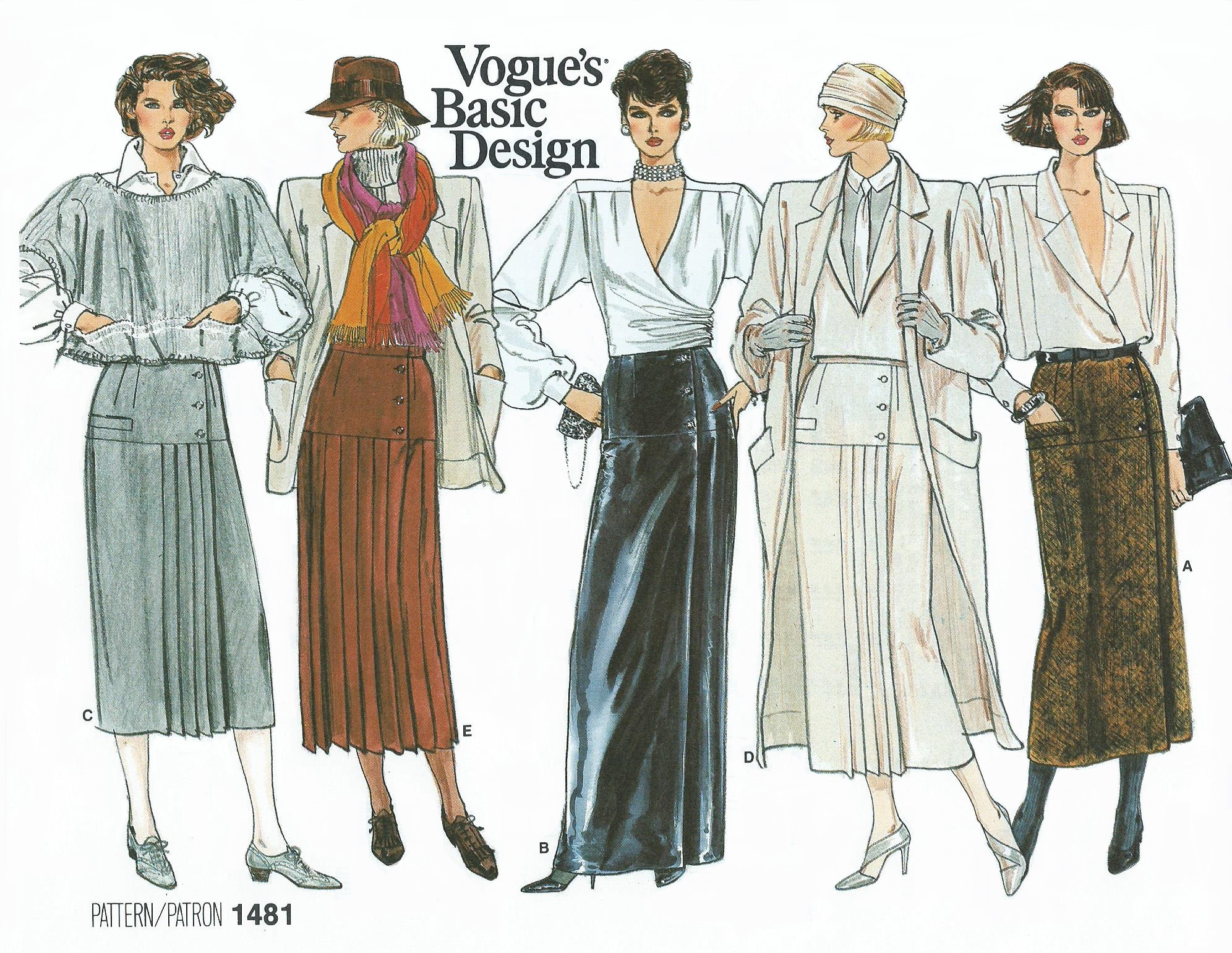 Vogue 1481 A | Vintage Sewing Patterns | FANDOM powered by Wikia