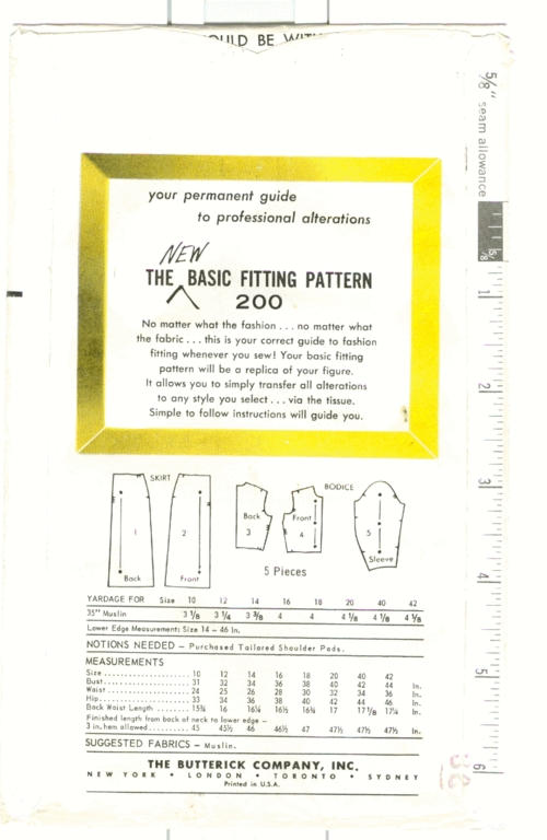 Butterick 200back