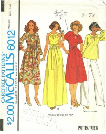 McCalls 6012