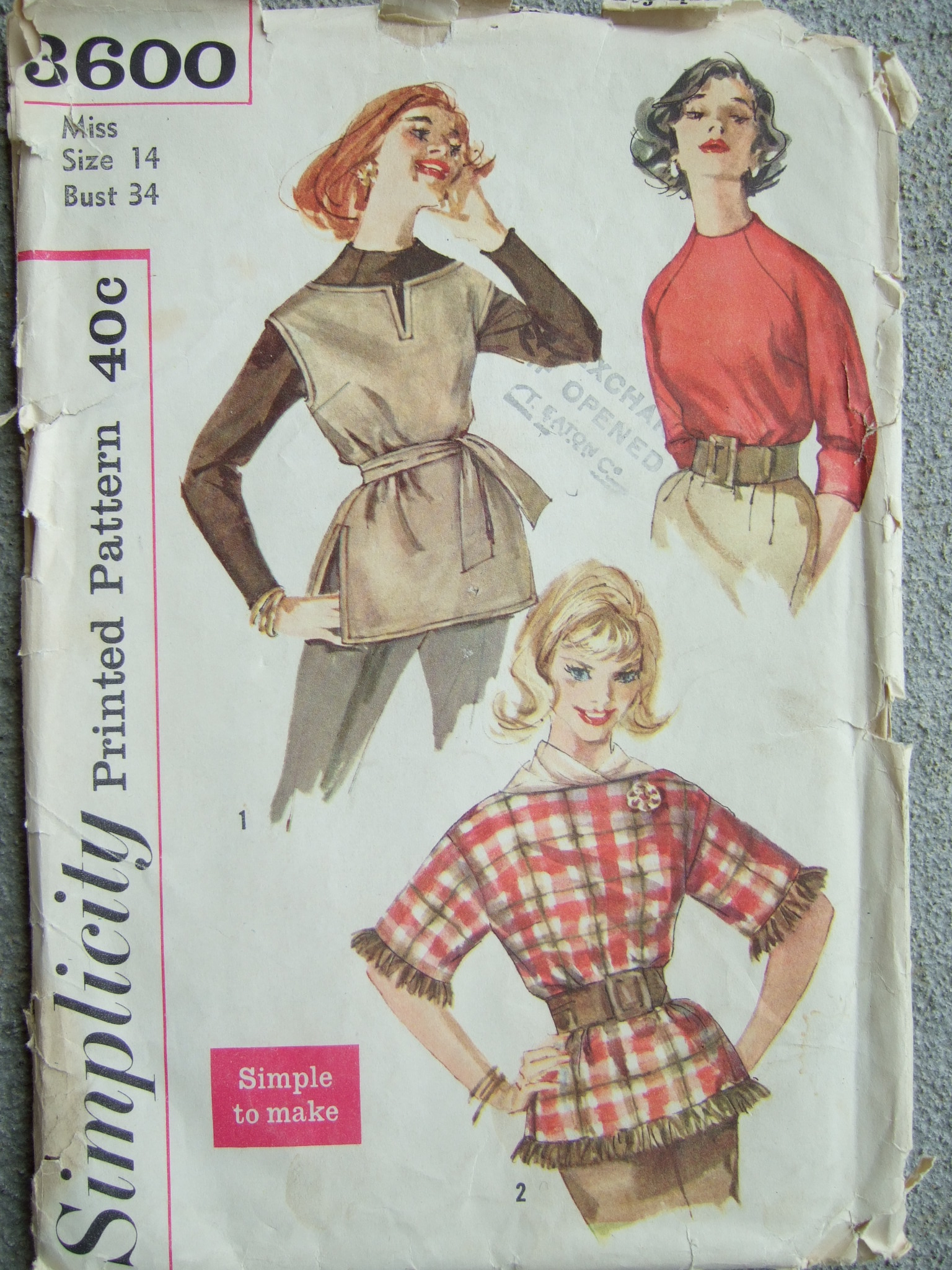 e0af67544 Simplicity 3600 | Vintage Sewing Patterns | FANDOM powered by Wikia