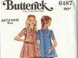 Butterick 6487 A