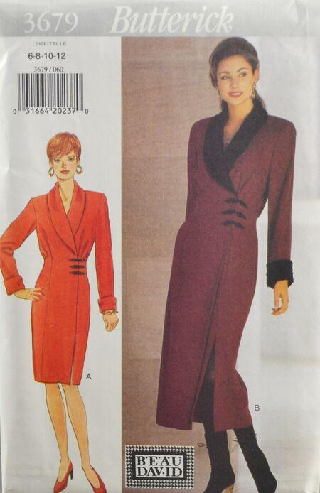 Butterick 3679 Misses Wrap Dress 1