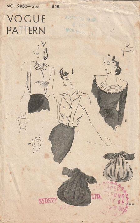 Pattern - Vogue 9852 03