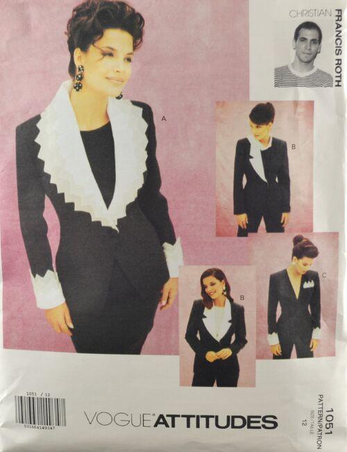 Vogue 1051 Misses' Christian Frances Roth Jackets 1