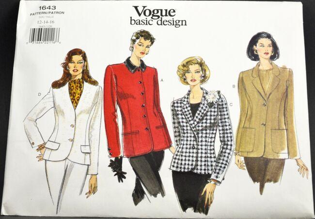 Vogue 1643 Basic Design Jacket 1