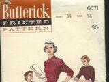 Butterick 6671