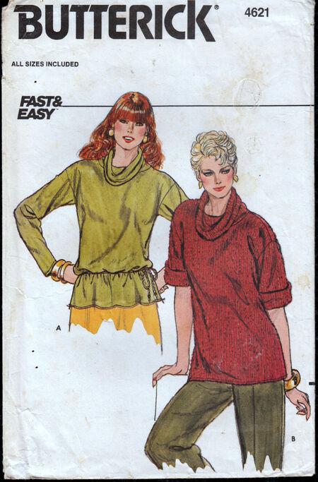 Vintage 1980s Butterick 4621 top Penelope Rose at Artfire