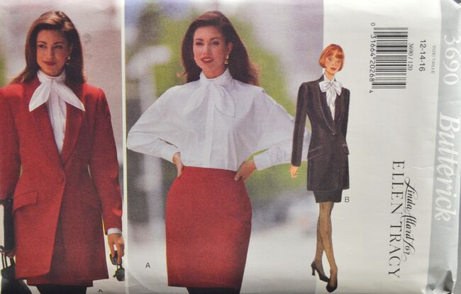 Butterick 3690 Misses' Jacket Blouse Skirt 1