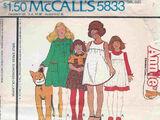 McCall's 5833 A