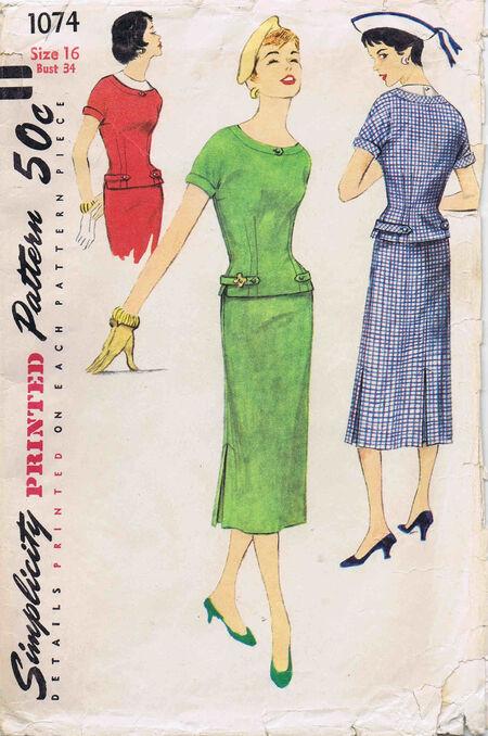 Simplicity 1955 1074