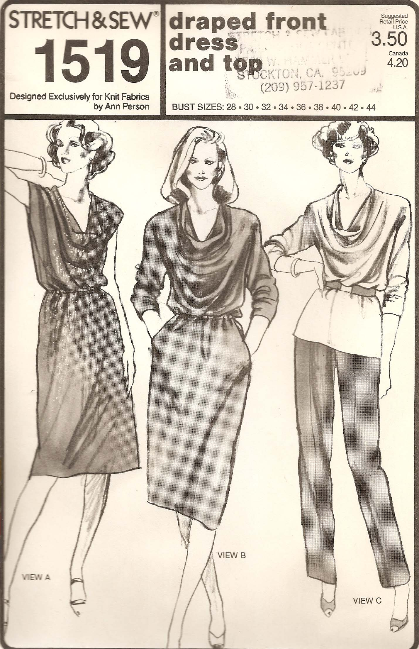 Stretch & Sew 1519 | Vintage Sewing Patterns | FANDOM powered by Wikia