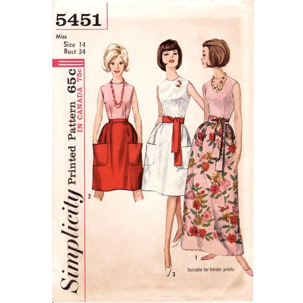Image - 1960\'s Sleeveless Blouse Patch Pocket Maxi Skirt Vintage ...