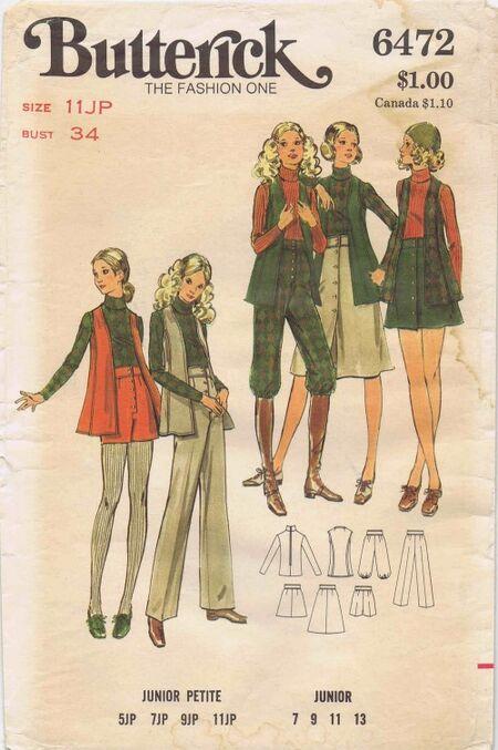 Butterick 1971 6472