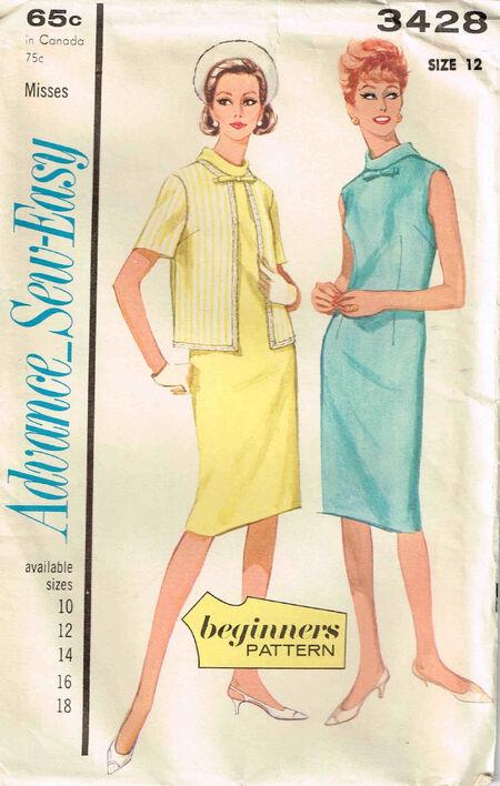 C1964 3428 Advance Dress Size 12