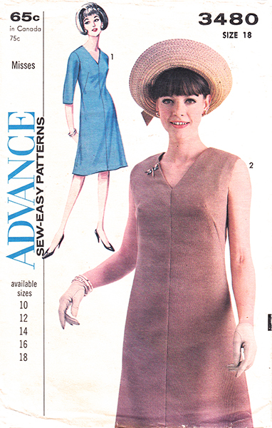 Advance 3480 dress pattern