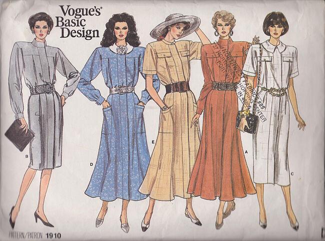 Vogue 1910 basic designs dress