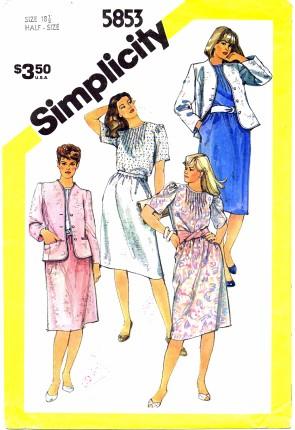 Simplicity 5853 B