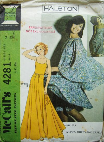 McCalls (Vintage) 4281 - Halston Dress