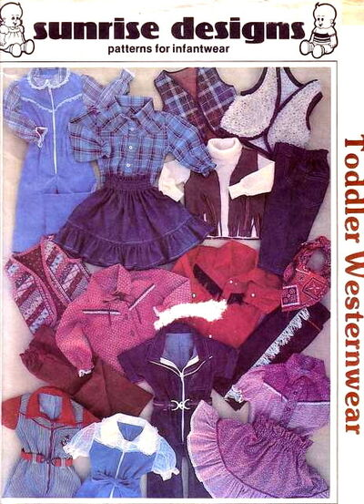 Sunrise Designs Toddler Westernwear   Vintage Sewing Patterns ...