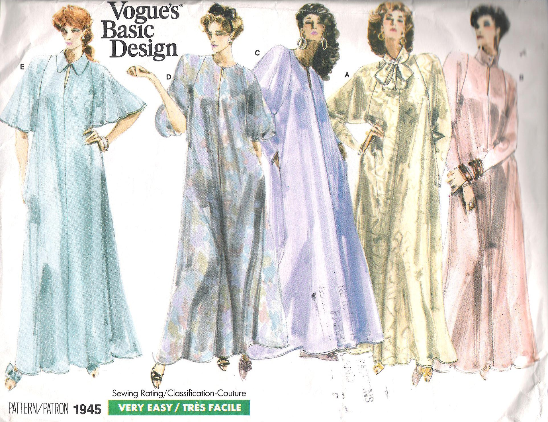 Vogue 1945 A | Vintage Sewing Patterns | FANDOM powered by Wikia