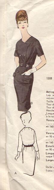 Vogue 1308 - Back