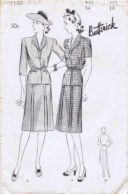 Butterick 1942 2183