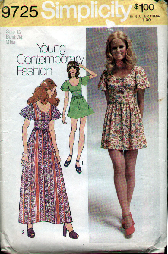Simplicity 9725 | Vintage Sewing Patterns | FANDOM powered by Wikia
