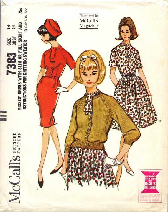Mccalls 7383 Vintage Sewing Patterns Fandom Powered By Wikia