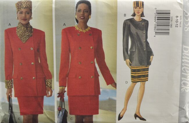 Butterick 3558 Misses' Jacket Skirt Hat 1