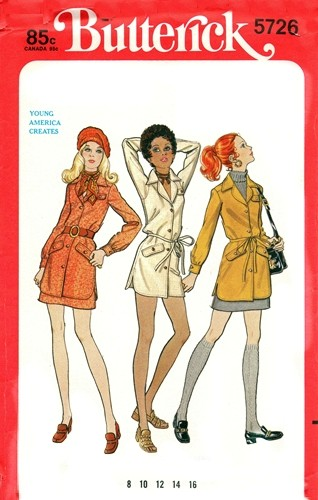 43b8a79b19a Butterick 5726  ca. 1969  Young America Creates by John Nickleson - Misses   Two-Piece Dress. Loose-fitting
