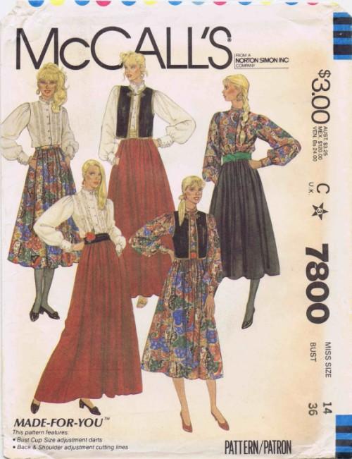 McCalls 1981 7800