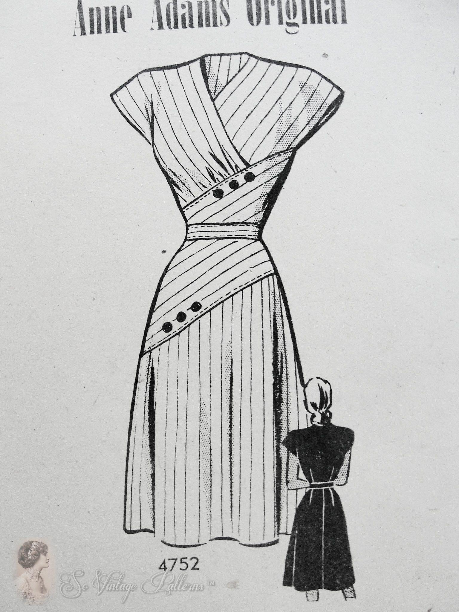 Anne Adams 4752 A | Vintage Sewing Patterns | FANDOM powered by Wikia