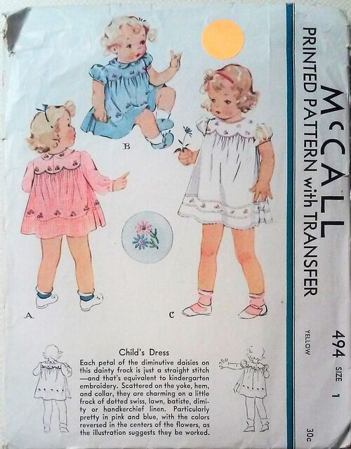 McCall -494 Child's Dress