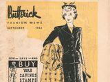 Butterick Fashion News September 1942