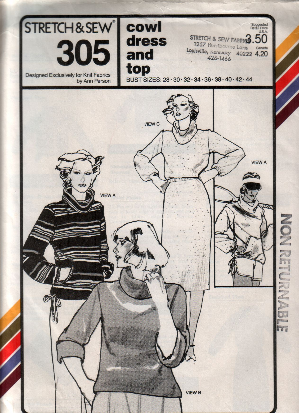 Stretch & Sew 305 | Vintage Sewing Patterns | FANDOM powered by Wikia