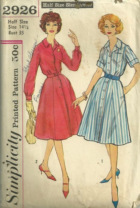 89547c859d38e Simplicity 2926 | Vintage Sewing Patterns | FANDOM powered by Wikia