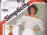 Simplicity 5758 A