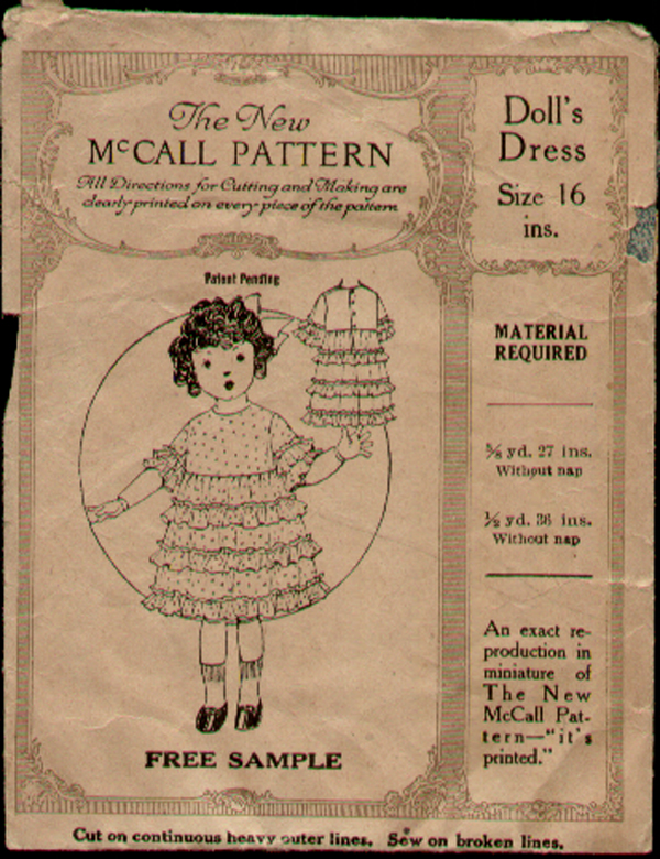 McCall Sample Doll | Vintage Sewing Patterns | FANDOM powered by Wikia