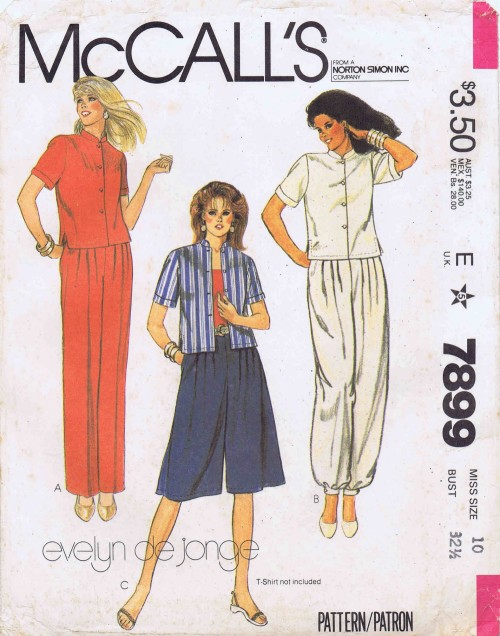 McCalls 1982 7899