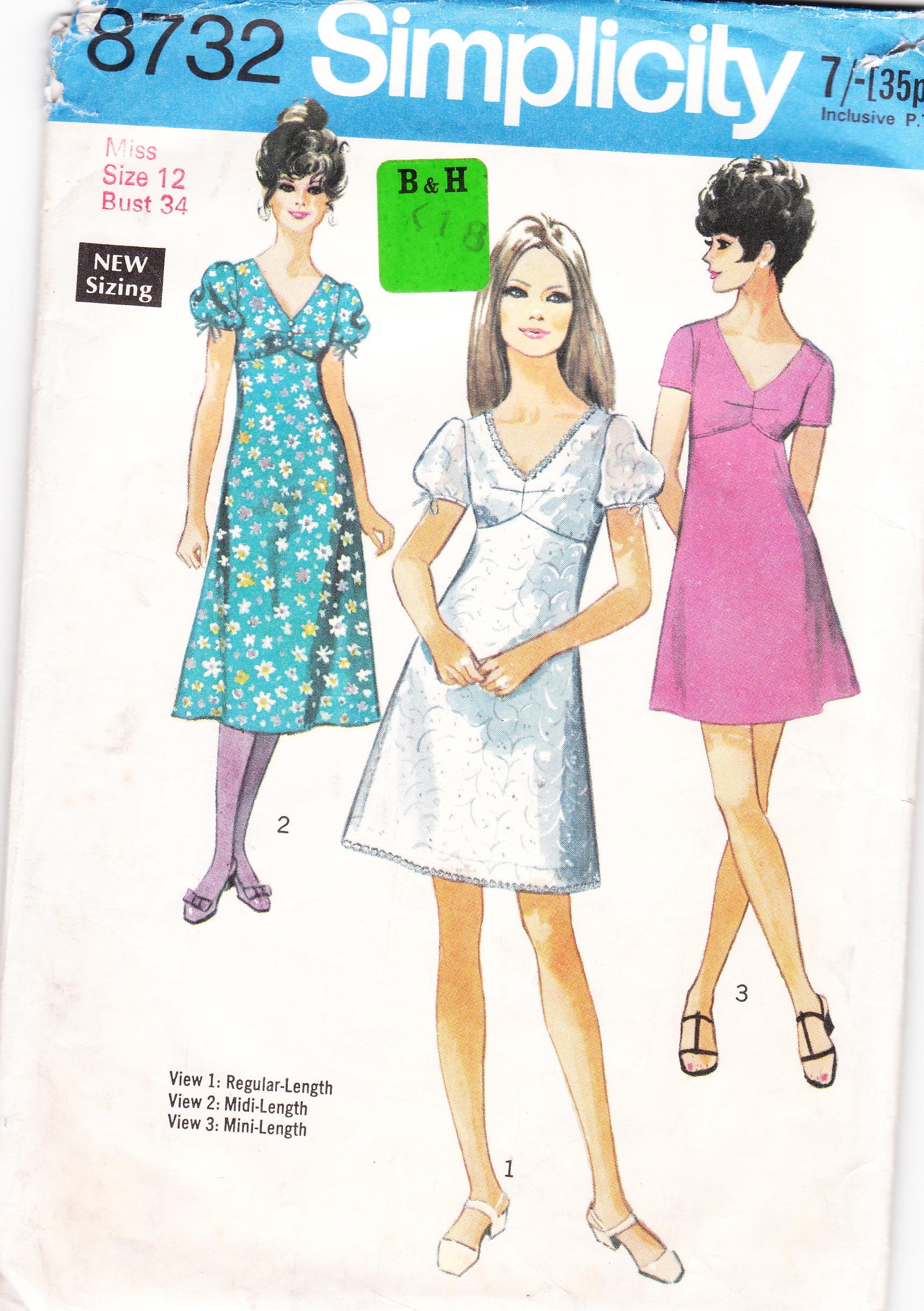 Vintage Dress Patterns Empire Waist